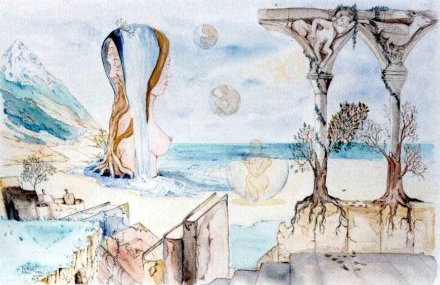 Peinture Eau Decor Aquarelle Accueil Design Et Mobilier