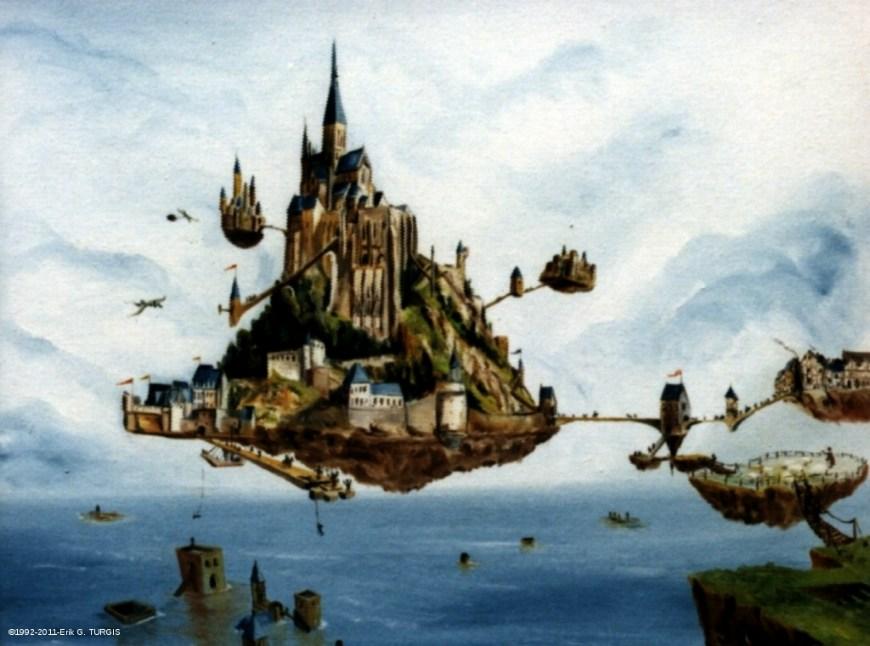 06c peinturgis huile surrealiste 10 for Architecture symbolique